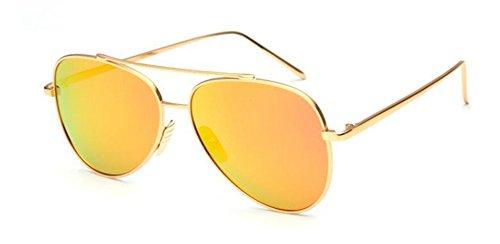 style en polarisées retro de rond Film du soleil cercle inspirées Lennon métallique vintage Orange lunettes CwzxXBqS
