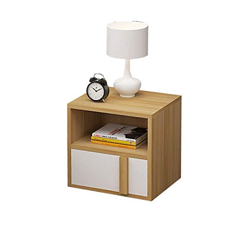 Modern Simple Bedside Cabinet Storage Small Cabinet Assembly Locker Dormitory Bedroom Bedside Cabinet Side bookcases Teak Color Size: 403642cm (Design : A) (Teak Bookcase Cabinet)