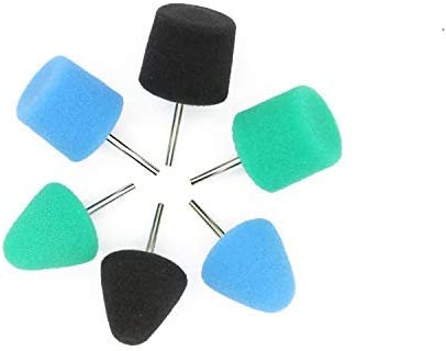 Mini Polishing Pad Set 36 Pcs Sponge Buffing Wheels Kit with Flexible Shaft for Polisher Machine Set