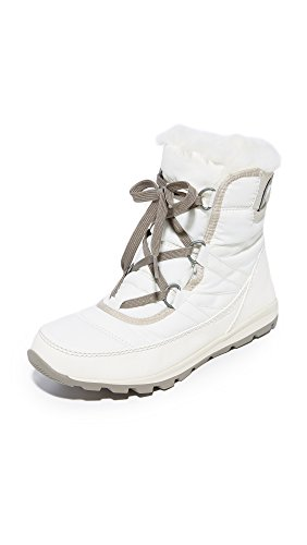 SOREL Women's Whitney Short Lace Snow Boot, Sea Salt