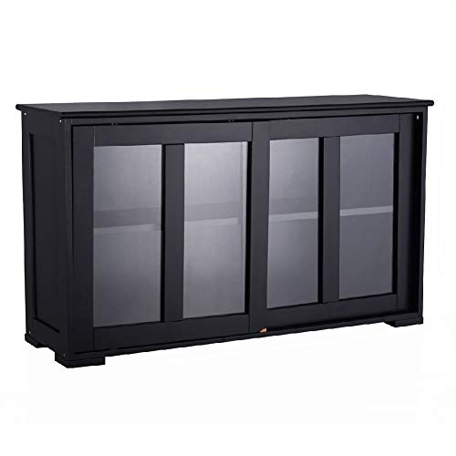 Table Cupboard Storage Server Kitchen Cabinet Sideboard Pantry Sliding Dining Glass