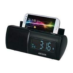 JENSEN JBD-100 Universal Bluetooth Clock Radio with Charging for Smartphones