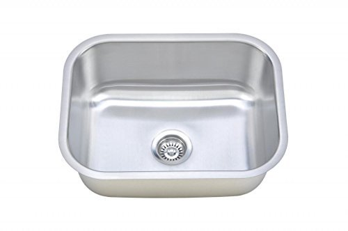 Wells Sinkware CMU2318-9 18-Gauge Single Bowl Undermount Kitchen Sink, Stainless Steel by Wells Sinkware Corp. -- DROPSHIP by Wells Sinkware Corp. -- DROPSHIP