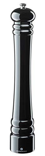 :Zassenhaus, Berlin, Traditional Wooden Pepper Mill - Black Gloss 40cm
