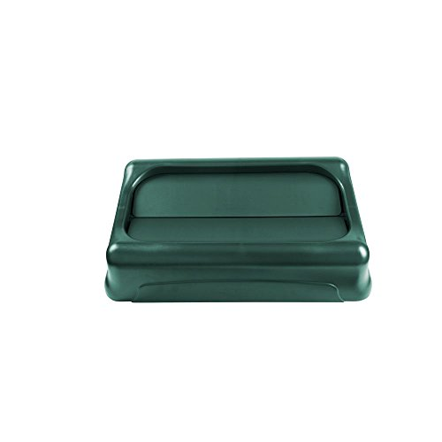 Rubbermaid Commercial Products 1829400 Slim Jim Swing Lid for Waste Container Lids, Green