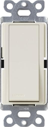 Lutron CA-1PS-LA Diva 15-Amp Single Pole Switch, Light Almond