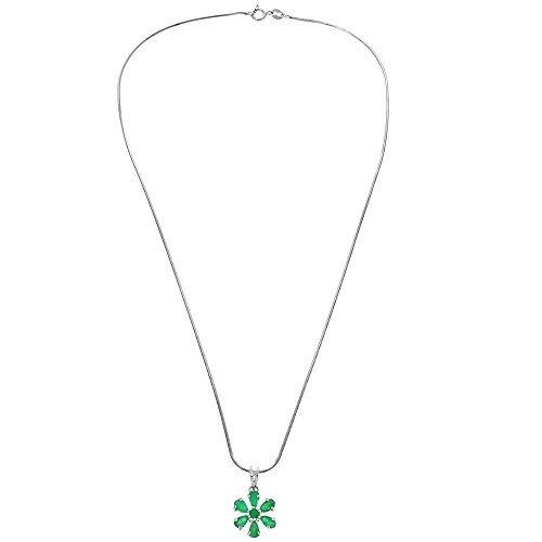 Boucles D'Oreilles Pendentif Et Chaîne En Argent Bijoux Set 30X20Mm Vert Fait Main En Inde, Élégant Cadeau De Noël Pour Maman