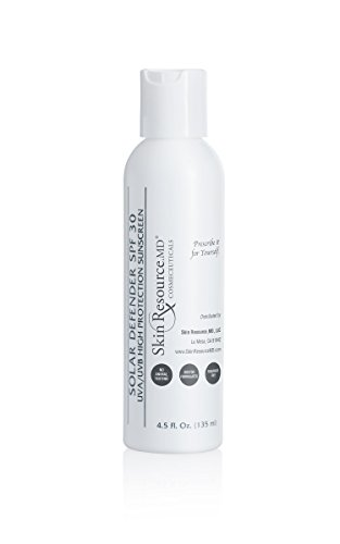 SkinResource.MD Solar Defender SPF 30, UVA/UVB High Protection Sunscreen for All Skin Types