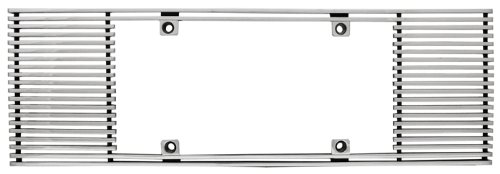CWL-444A 4mm Polished Aluminum Billet Straight Edge License Plate Frame IPCW