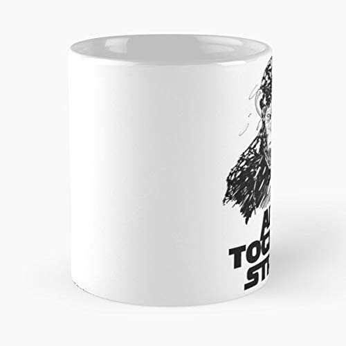 Black And White Ink Caesar Ape Coffee Mugs Unique Ceramic Novelty Cup (Rise Of The Planet Of The Apes Koba)