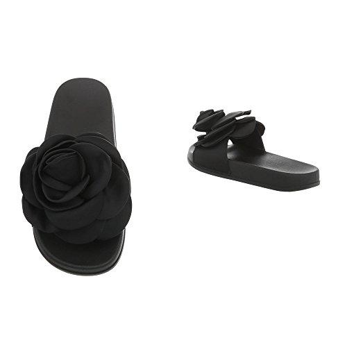 Ital-Design Women's Sandals Flat Mules at Schwarz 830 taLER