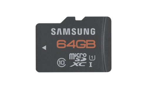 Samsung 64GB PLUS Micro SDXC with Adapter - up to 48MB/s - UHS-1 Class 10 Memory Card (MB-MPCGCA/AM)