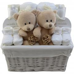 Teddy 16 Teiliges Unisex Twin Baby Prasentkorb Unisex Twin Geschenk