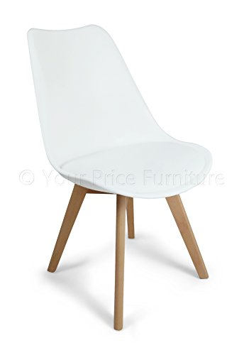 5e9fc48af586 Your Price Furniture.com Toulouse Tulip Eiffel Style Dining Set - White 90cms  Small Round Table And 4 White Chairs - Buy Online in KSA.