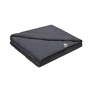 Viki Cooling Weighted Blanket 20 lbs Queen Size 60''x80'', Dark Grey, 2.0 Adults Heavy Blanket with Glass Beads