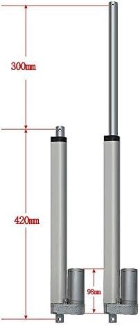 Moteur /électrique dactionneur lin/éaire de Charge r/ésistant de Course de 100mm CC pour lascenseur de Table de TV inclinable Wendry Actionneur lin/éaire de Course de 4 Pouces