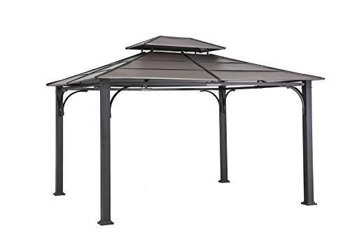 Gazebo Tiered Roof - Sunjoy D-GZ840PST-E1 Gazebo Hardtop, Faux Copper