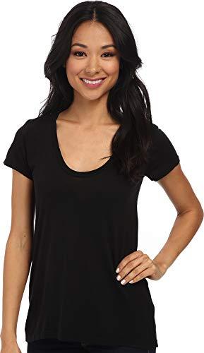 (Splendid Women's Very Light Jersey Short Sleeve U Neck Tee, Black, X-Small)