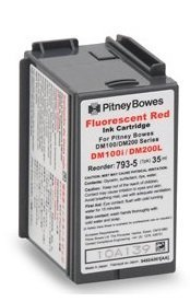 Original Pitney Bowes DM100TMi and DM200TM 793-5 Postage Meter Red Ink (Postage Machine Ink)