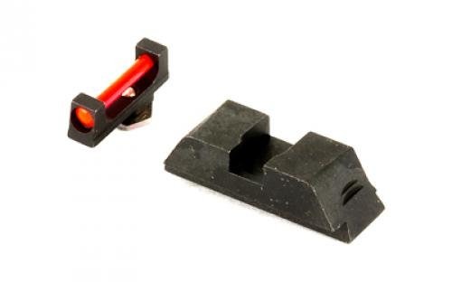 AmeriGlo Sight, fits Glk 20,21,29,30,31,32,36,40,41, Red Fiber Front Black Rear