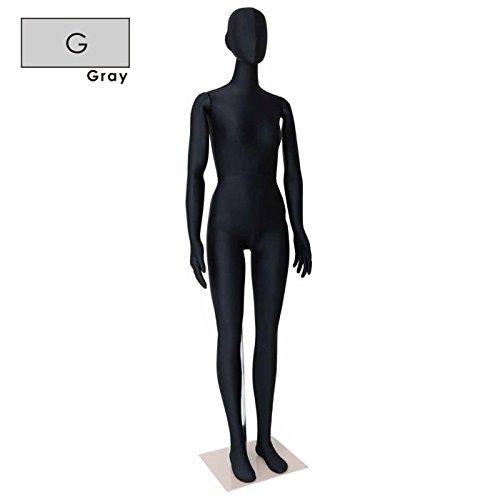 フレキシブルマネキン 全身マネキン 可動マネキン レディース 172cm カラー選択可能 関節可動率UP SM0532-G (グレー) B01N7A5FC3  グレー