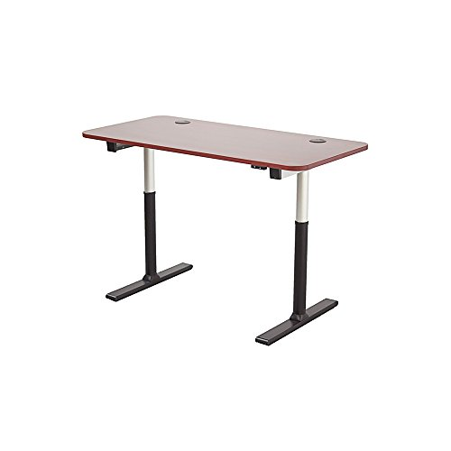 ApexDesk VT60NWC-S Vortex Series 60' 2-Button Electric Height Adjustable Sit to Stand Desk, New Cherry Top with Standard Controller