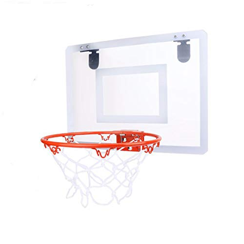 Wenini Slam Dunk Mini Basketball Hoop Set, Mini Basketball Hoop Shatter Resistant Backboard with Breakaway Rim Door Use with 5.5inch Ball & Inflator Game for Kids Children or Adult (Multicolor)
