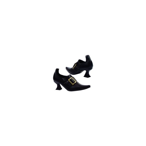 Witch Costume Shoes (Ellie Shoes Women's 301 Hazel Witch Shoe, Black Polyurethane, 9 M)