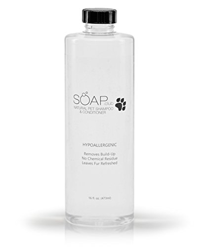 Soap Club Natural Hypoallergenic Pet Shampoo and Conditioner for Dogs and Cats 16 fl.oz