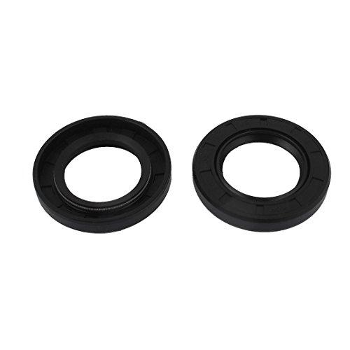 2pcs 32x52x8mm Black Rubber Double Lip Skeleton Shaft TC Oil Seal