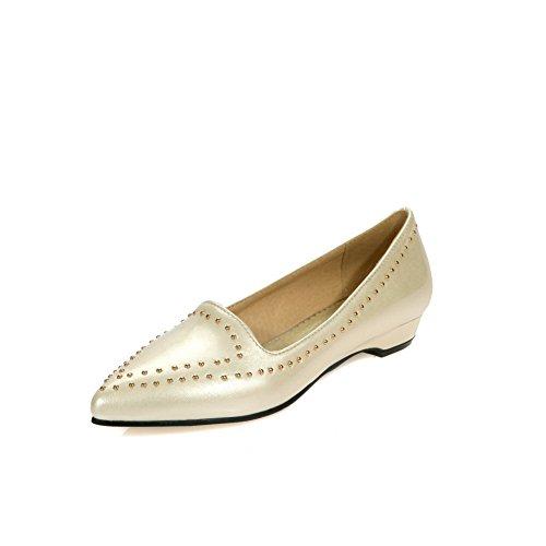 Urethane No Womens Loafers Resistant Urethane Shoes AdeeSu Solid SDC03654 Beige Slip Closure q0nZq85
