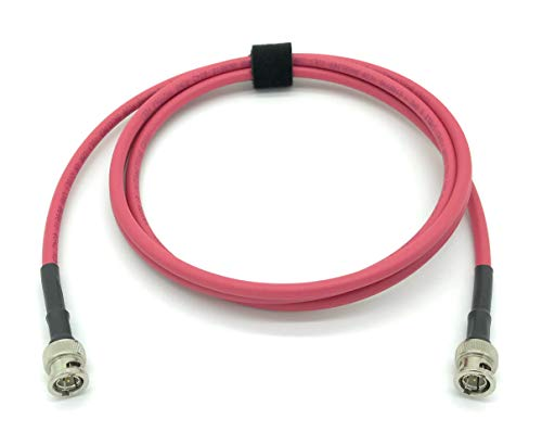 15ft AV-Cables 3G/6G HD SDI BNC Cable Belden 1505A RG59 - Red ()