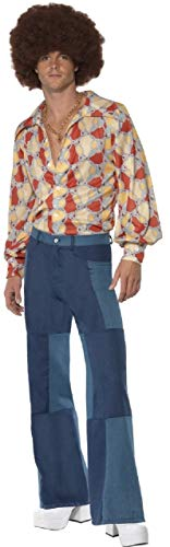 Mens 1970s Dance Fever Disco 70s Decades Retro Stag Do Night Fancy Dress Costume Outfit M-L (Large) -