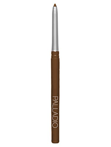 Palladio Retractable Waterproof Eyeliner, Black Brown, Richly Pigmented and Creamy, Slim Twist Up Pencil Eyeliner, No Smudge Formula with Long Lasting Application, No Eyeliner Sharpener Required