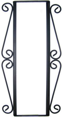 (Fine Crafts Imports Wrought Iron Vertical House Number Frame Desert 3)