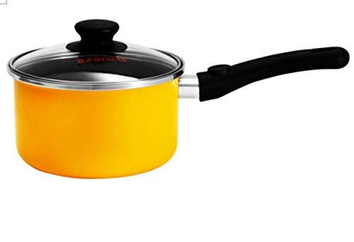 Iron Stick Enamel Non (1.5 Qt Enamel Iron Saucepan Non Stick Iron Sauce Pan And Pots Drawing Cooking Pan Sauce Gravy Tomato Sauce Nonstick Pan (Medium Size 1.5 Qt))