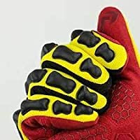 RAWKTECH BACKBONE High-Viz Bright Yellow Work Gloves Oil and Gas PAIR Extra Large