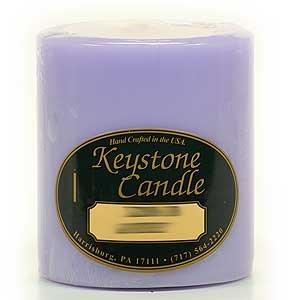 Lemon Lavender Pillar Candles, Set of 4, one of each size: 3x12, 3x3, 3x6, 3x9