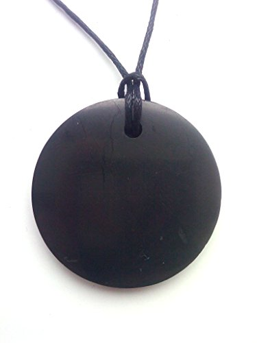 Shungite Pendant  EMF Protection Stone  Genuine Shungite and