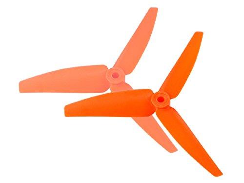 (Microheli Plastic 3 Blade Propeller 82mm Tail Blade (ORANGE) - BLADE 230S / 250CFX)