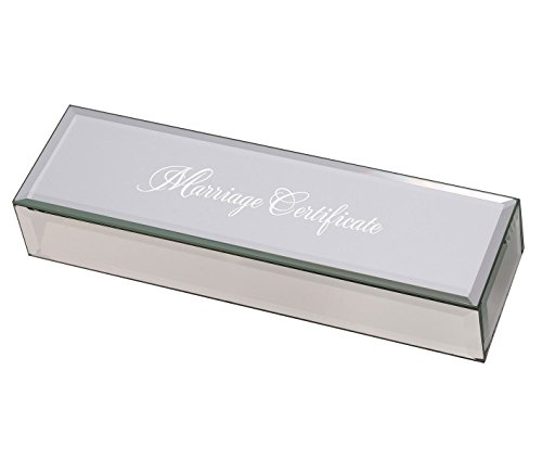 - Lillian Rose BX200 MC Mirrored Marriage Certificate Box Silver