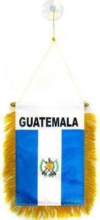 AZ FLAG BANDERIN de Guatemala 15x10cm con Ventosa - BANDERINA GUATEMALTECA 10 x 15 cm para Coche: Amazon.es: Hogar