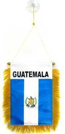 AZ FLAG Guatemala Mini Banner 6'' x 4'' - Guatemalan Pennant 15 x 10 cm - Mini Banners 4x6 inch Suction Cup Hanger