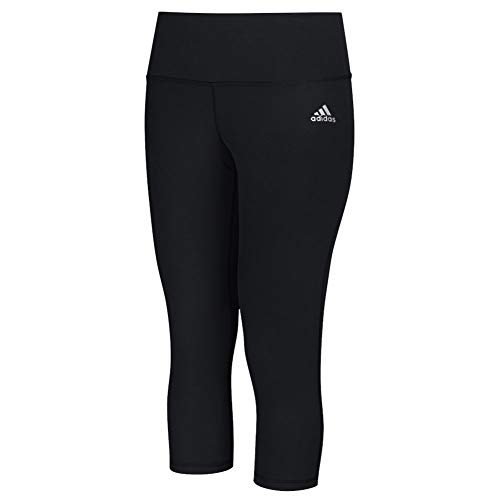 adidas Performance Women's Performer Mid-Rise 3/4 Tights, Black/Matte Silver, ()