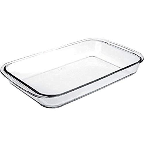 Ibili ovenschaal kristal, rechthoekig, glas, transparant, 23 x 15 x 6 cm