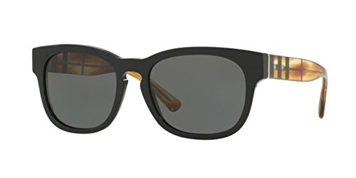 Burberry BE4226 360487 Black BE4226 Wayfarer Sunglasses Lens Category 3 Size - Wayfarer Burberry Sunglasses