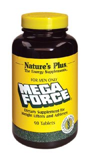 Natures Plus Mega Force Multivitamin for Men Only – 90 Tablets – Multi Vitamin & Mineral Supplement Enhanced for Weight Lifters & Athletes – Gluten Free – 30 Servings For Sale