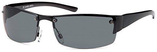 Matrix Herren Sonnenbrille Sportbrille Rad Brille Radbrille Sport Wayfarer Nerd, Rahmenfarbe:Schwarz