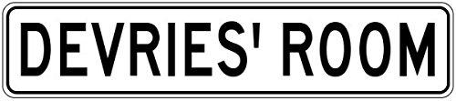 devries-room-kids-custom-boys-room-sign-heavy-duty-9x36-quality-aluminum-sign