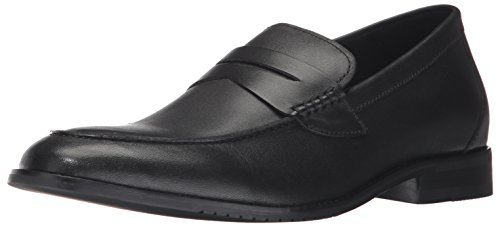 206 Collective Mens Winton Penny Loafer Black Leather